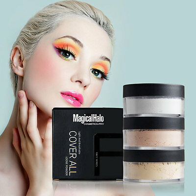 Smooth Makeup Cosmetics Mineral Loose Setting Face Powder Foundation Oil Control