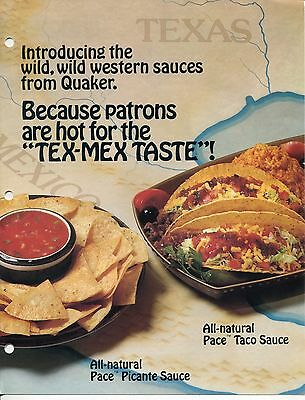 1983 Wholesale Ad Brochure Introducing PACE TACO SAUCE +