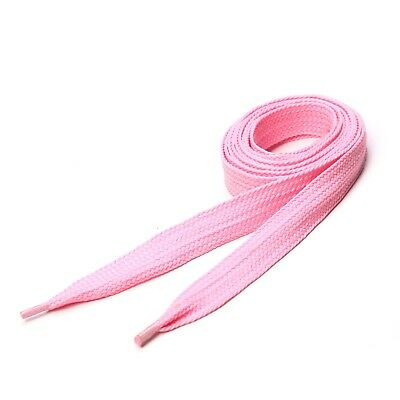 Super Fat Shoelaces Coloured Flat Skate Shoe Laces Trainers Boots Wide Baby Pink