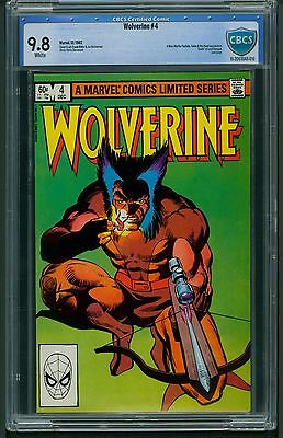 Wolverine #4 (1982) CBCS Graded 9.8 ~ Limited Series ~ Frank Miller  ~ Not CGC