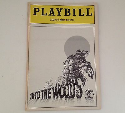 Playbill 1988 Into The Woods Martin Beck Theatre Chip Zien Mary G Murray Theater