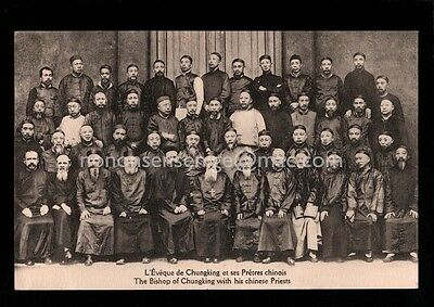 CHINA CHUNGKING BISHOP & HIS CHINESE PRIESTS  Cercle Missionnaire POSTCARD C415