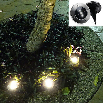 3 LED Solar Power Light Wall Mount Outdoor Garden Path Landscape Fence Yard Lamp