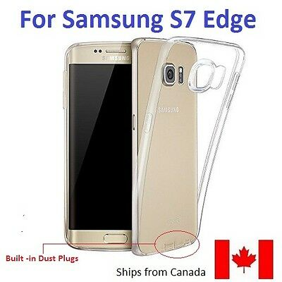 NEW CLEAR CASE FOR SAMSUNG GALAXY S7 Edge -  TRANSPARENT SLIM SOFT SILICON COVER