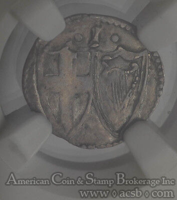Great Britain 1d Penny 1649-1660 VF20 NGC silver KM#387 Commonwealth RARE