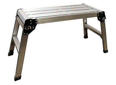 ABN 5292 Sturdy Multi-Purpose Aluminum Work Platform Scaffold, Folds Up Easily