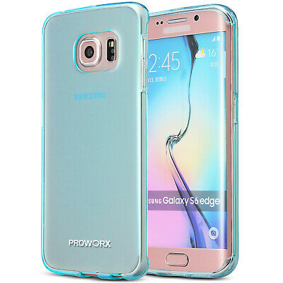 For Samsung Galaxy S6 Edge PROWORX Premium TPU Rubber Case Cover Mint Green