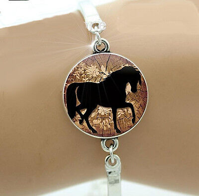 Horse & Western Jewellery Jewelry Ladies Womens  Horse Bangle Bracelet Silver