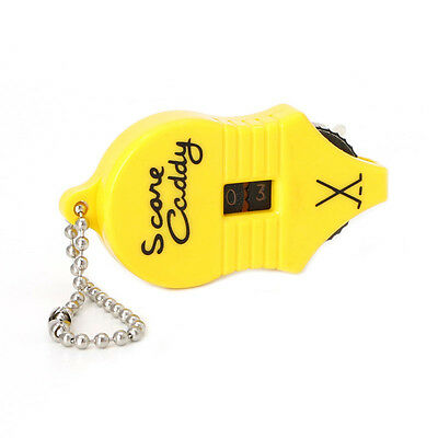 Mini Golf Stroke Shot Putt Score Counter Tally Keeper Number With Key Chain New