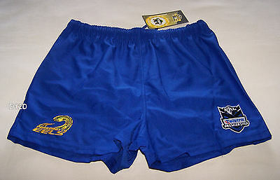 Parramatta Eels Old Logo NRL Boys Blue Embroidered Rugby Shorts Size 14 New