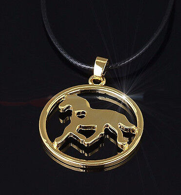 Horse & Western Jewellery Jewelry Horse With Heart Pendant Necklace Gold