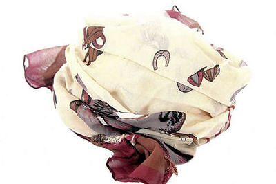 Horse & Western Gifts Fashion Accessories Ladies Womens  Equestrian Scarf