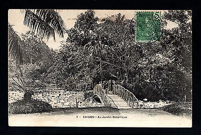 13715-INDOCHINA-OLD POSTCARD SAIGON to FRANCE.1905.INDOCHINE.French colonies.