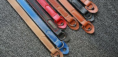 Leather Hand Crafted (Fine or Rich Grain) Camera Neck Strap for Film or Digital