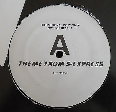 """S-EXPRESS ~ Theme From S-Express ~ 12"""" Single PROMO"""