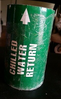 CHILLED WATER RETURN PIPE MARKER LABELS Green