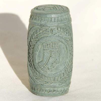 Ethiopan Sone Seal Sculpture from Axum Pure Traditional Handwork African Rock