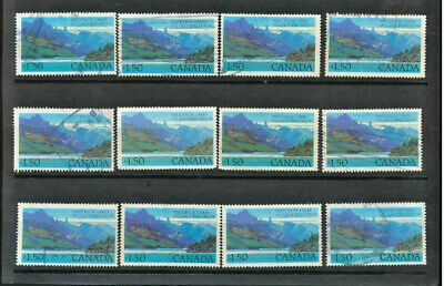 Canada #935 Waterton Lakes National Park Wholesale Lot of 12 Used High Values