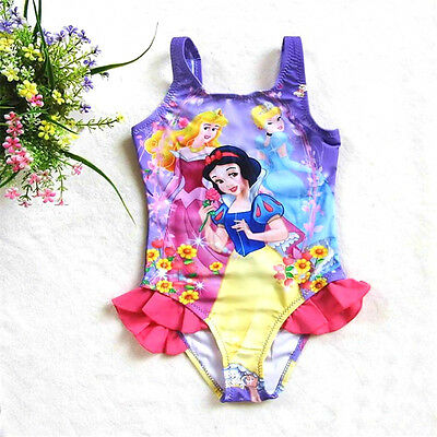 Disney Princess Swimsuit, Girls Age 4-10 Years,Swimming Costume Cinderella