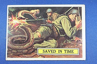 1965 Topps Battle Cards - #21 Saved In Time - Very Good Condition