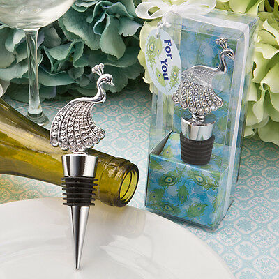 1 x Peacock Design Wine Bottle Stopper - NEW - Wedding Favours and Gifts