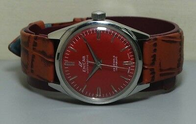 Vintage Enicar Winding Star Jewels Swiss Mens Wrist Watch Old Used R320 Antique