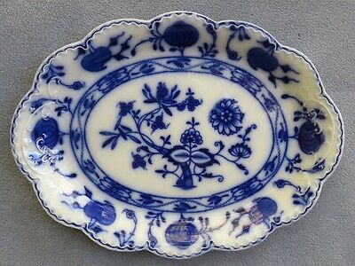 Johnson Brothers Flow Blue Holland 12.5 Inch Oval Serving Platter
