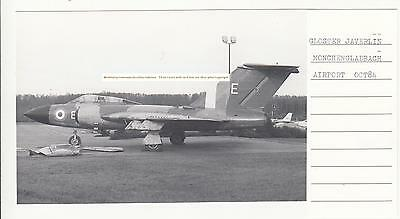 A Vintage Gloster Javelin Raf Aircraft Photograph