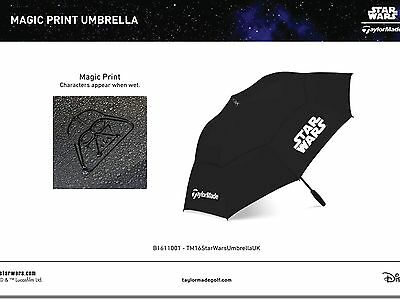 "TaylorMade Star Wars Golf Tour Umbrella 64"" Double Canopy MAGIC PRINT character"