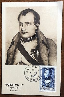 £££ France - n°896 - carte Maximum - 1951 - Bonaparte - Ajaccio