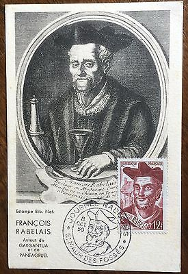 £££ France - n°866 - carte Maximum - 1950 - François Rabelais