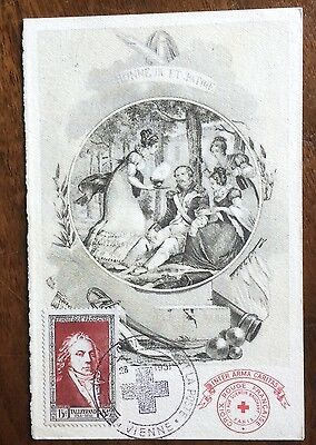 £££ France - n°895 - carte Maximum - 1951 - Talleyrand - Vienne - Red Cross