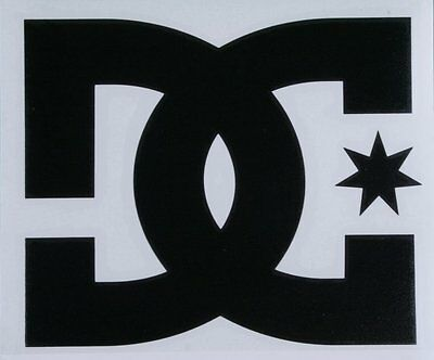 "LARGE DC Shoes 14"" Black TRANSFER STICKER DECAL"