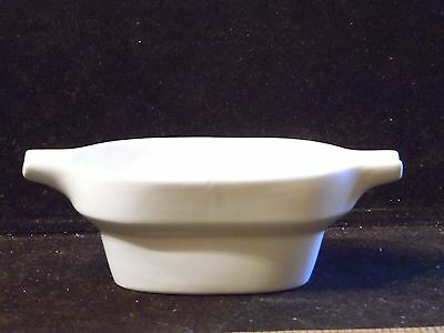 Shenango China Mid Century Modern Magna Medium Sauceboat Gravy White Sample