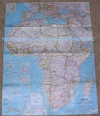 National Geographic MAP of AFRICA September 1960