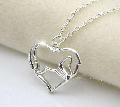 Horse & Western Jewellery Jewelry Ladies  Silver Open Heart Horse Necklace