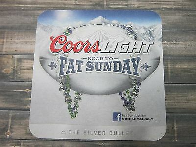Beer Coaster ~^~ COORS Brewery Light, The Silver Bullet >> Road to Fat Sunday