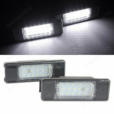 2x LED Licence Number Plate Light Canbus Citroën Berlingo C2 C3 C4 C5 C6 C8 DS3