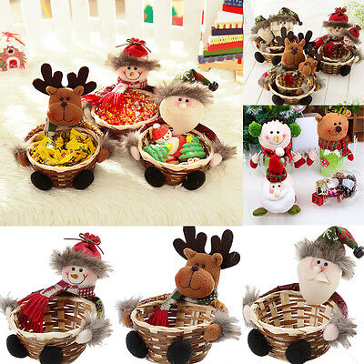 Cute Christmas Doll Candy Pouch Decoration Santa Claus Storage Gift Xmas Basket