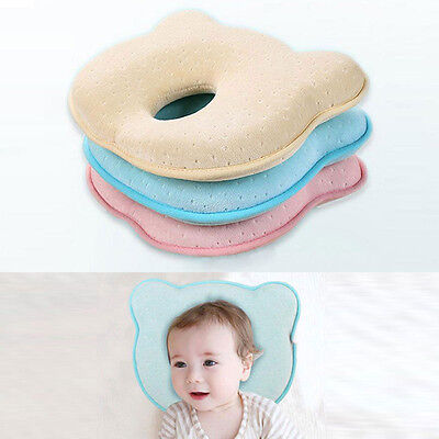 Infant Newborn Baby Memory Foam Pillow Anti Roll Prevent Flat Head Neck Support