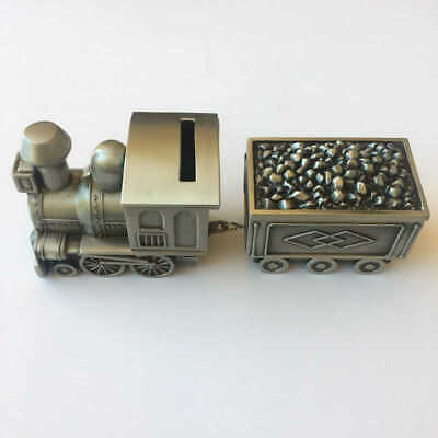 Train Carriage Money Box Pewter Finish Baby Shower Christening Gift Kids - Perth