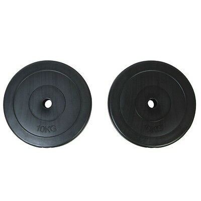 Set Of 2 Weight Plates Hole Disc Dumbbell Barbell Weight Fitness 20Kg