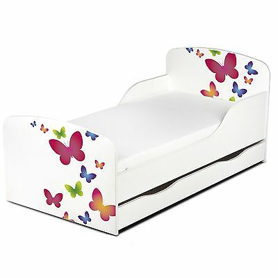 Butterflies Mdf Toddler Bed With Underbed Storage New Furniture
