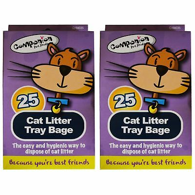 25 Pack Cat Litter Tray Liners Kitten Hygienic Standard Pet Waste Disposable Bag