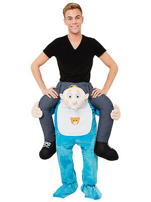 Carry Me Baby Adults Fancy Dress Riding Piggy Back Mascot Fun Costume Outfit New