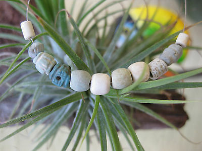 Ancient Faience Beads Egypt 1st Century BC  11 beads