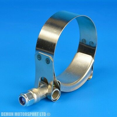 """STAINLESS STEEL HOSE CLAMPS T BOLT 61mm to 51mm (2"""" Inch)"""