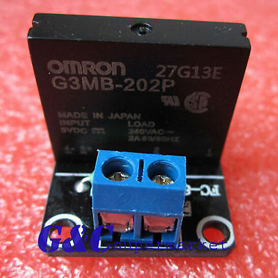 NEW 5V 1 Channel OMRON SSR G3MB-202P Solid State Relay Module For Arduino