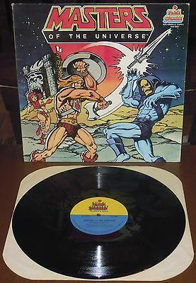 LP MASTERS OF THE UNIVERSE (Kid Stuff 83 USA) cartoons tv He-Man Skeletor EX!