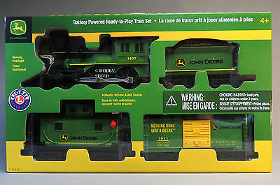 LIONEL LARGE SCALE JOHN DEERE READY TO PLAY TRAIN SET steam engine 7-11679 NEW